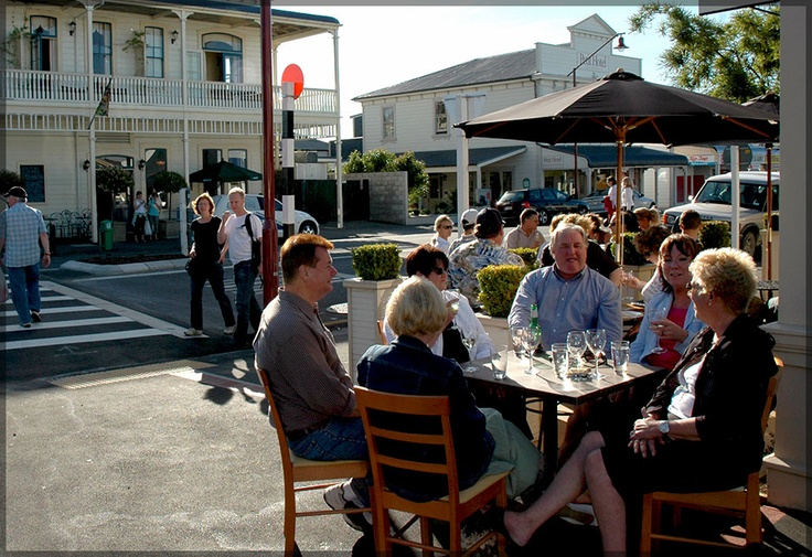 Martinborough New Zealand, I sat at this table and had one of the best meals of my life