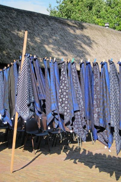 Blauwdoeken in Staphorst, foto Berthi Smith-Sanders