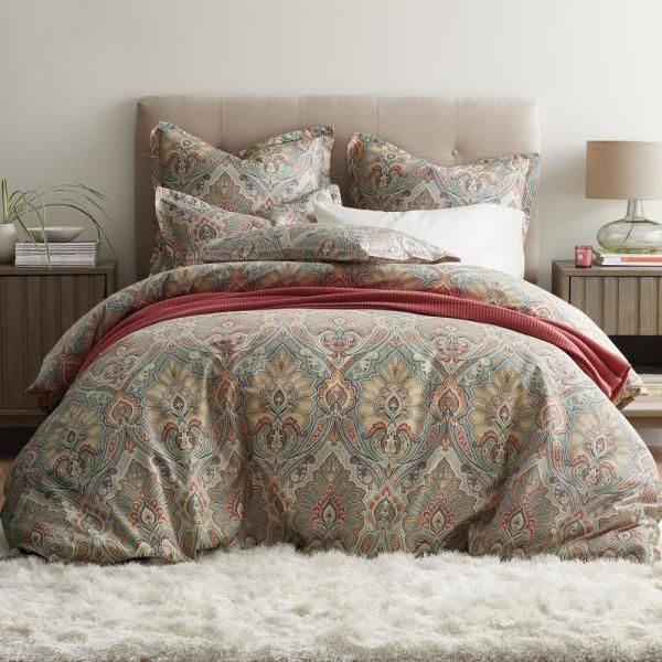 The Company Store Legends Blair Paisley Beige Sateen Full Duvet Cover 50121d F Beige The Home Depot Full Duvet Cover Paisley Duvet Home