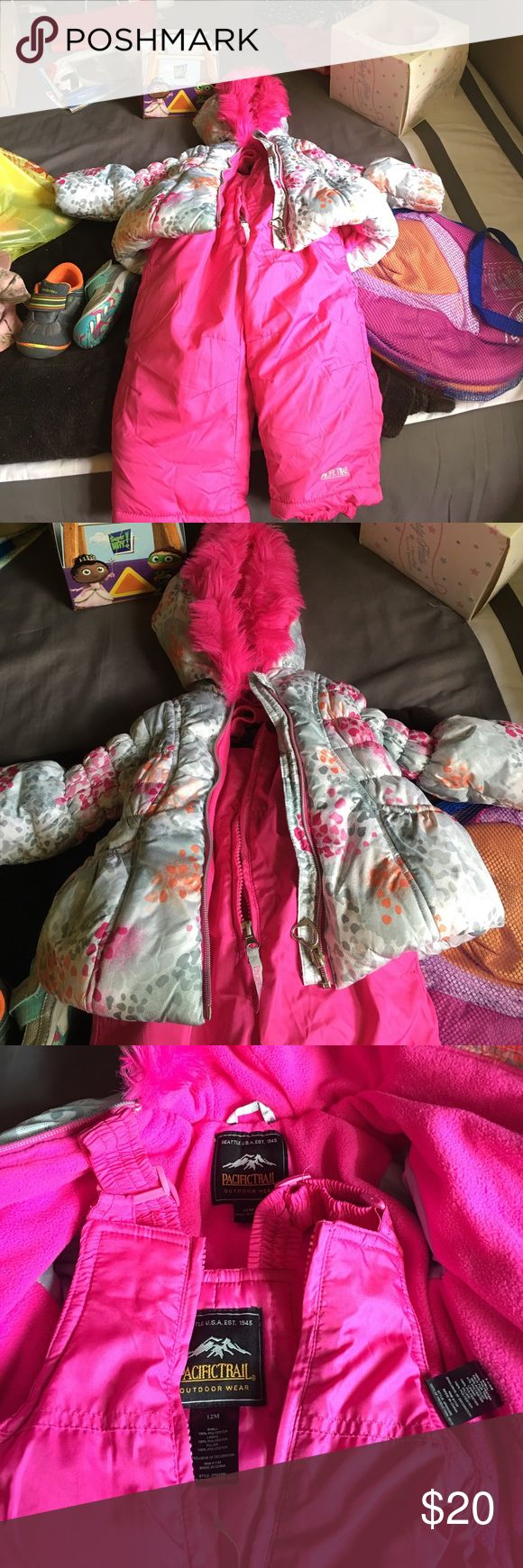 12M size snow suit and jacket worn once Girls 12 month size snow suit and jacket worn once Pacific Trail Jackets & Coats Puffers