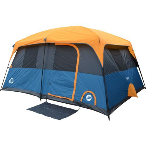 Discovery Adventures Instant 10 Person Cabin Tent Orange/Navy