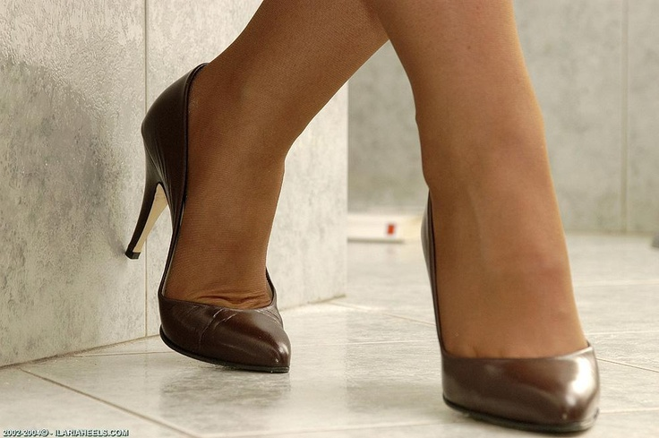 Brown Leather Pump Shoes
