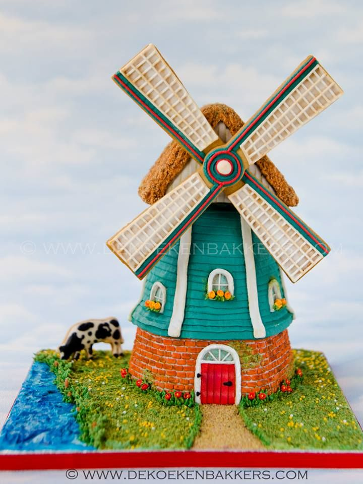 74 Best Images About Windmill Cakes On Pinterest