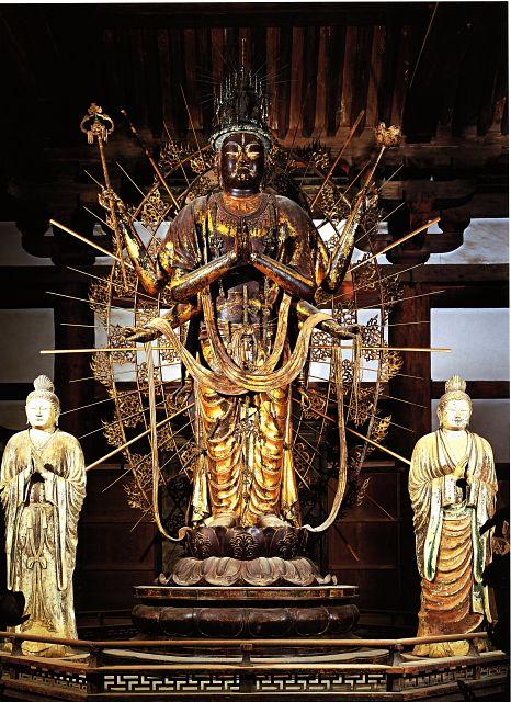Japanese National Treasure, Statue of Fukukensaku Kannon 不空羂索観音像(東大寺)