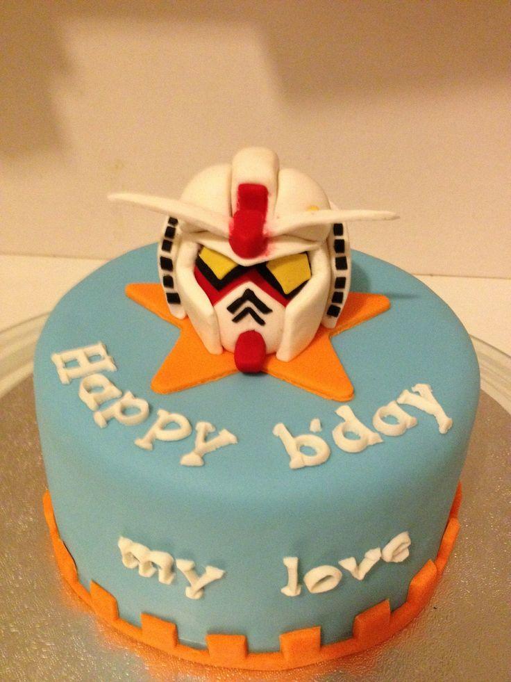 FOR HIM engagement cake Gundam lover