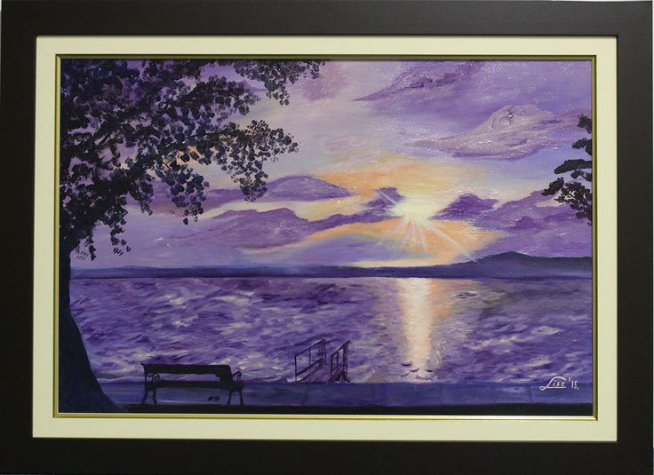 From me to you: Lisa Elinor Paintress Purplish twilight  13×18 oil-canvas  www.lisaelinor.com