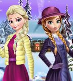 Jogo da Frozen - Elsa e Anna Winter Dress Up