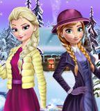 Jogo da Frozen - Elsa e Anna Winter Dress Up