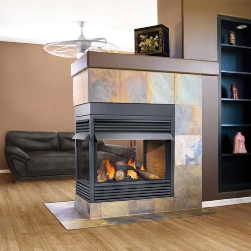 Napoleon gvf40 2 sided 3 sided peninsula 4 sided gas - Fireplace between two rooms ...
