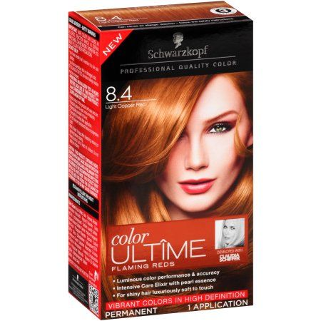 Schwarzkopf Color Ultime Flaming Reds Hair Coloring Kit, 8.4 Light Copper Red…