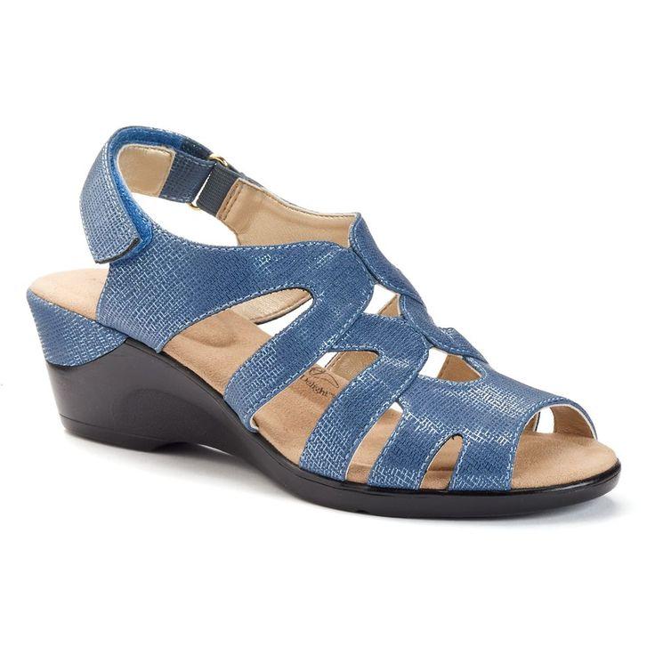 Soft Style by Hush Puppies Patsie Women's Wedge Sandals, Size: medium (6.5), Blue