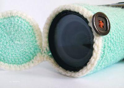 free crochet pattern camera lens cover