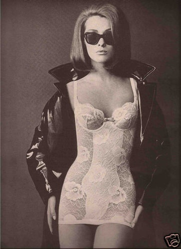 Lingerie Advertisement Jantzen 1966 - I think everyone should wear a cool pair of shades and an awesome jacket with their all-in-one!