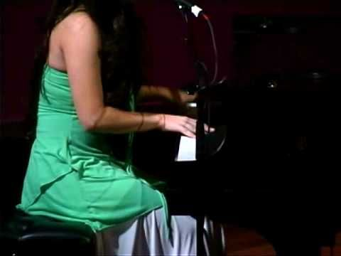 Stefani Germanotta (that's Lady Gaga to you!) performs at an NYU talent show