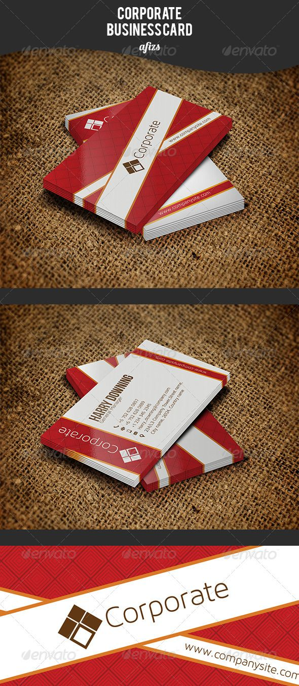 Business card printing free templates from nextdayflyers - Corporate Business Card