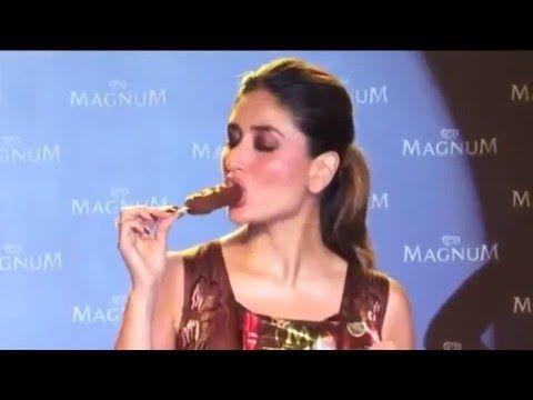Sexy Kareena kapoor having ice cream