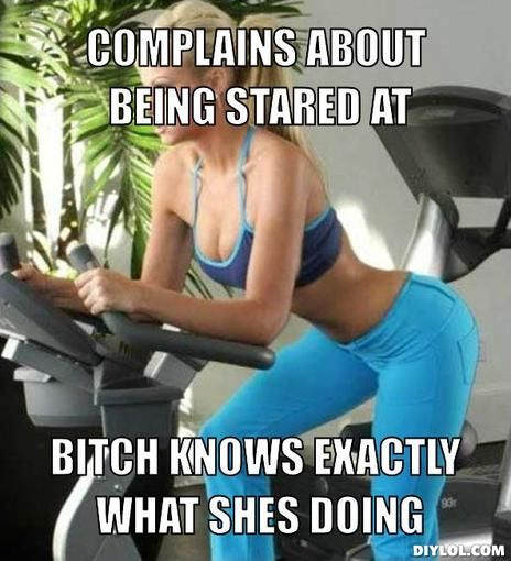 Bitches Be Like In Gym