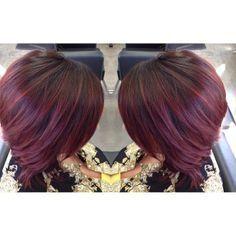 plum hair highlights, dark violet hair color - Google Search