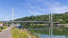 Heer-Agimont  pont suspendu sur la Meuse ! !