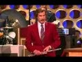 "Ron Burgundy's Announcement about ""Anchorman 2"" on Conan - See his awesome Flute Entrance!"
