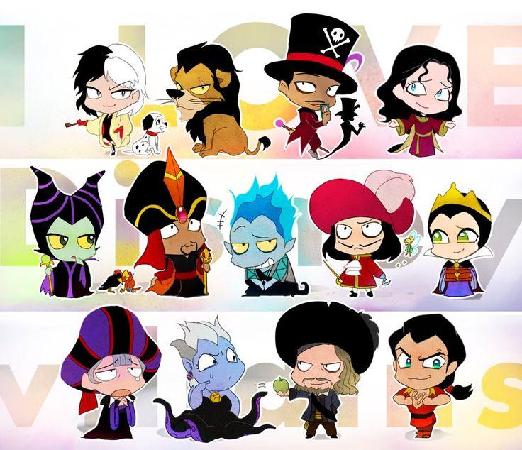I LOVE Disney villains by y-yuki on deviantART
