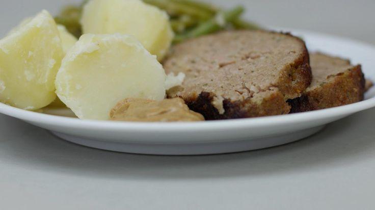 Gehaktbrood met boontjes en aardappelen | Dagelijkse kost