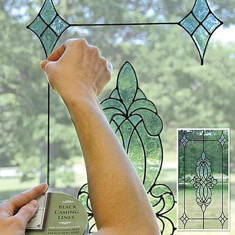 Create a complete, stylish, pulled together look on your windows with this caming line window cling. When used in conjunction with stained glass window cling appliques, it connects the elements to provide a finished look to your window's design.
