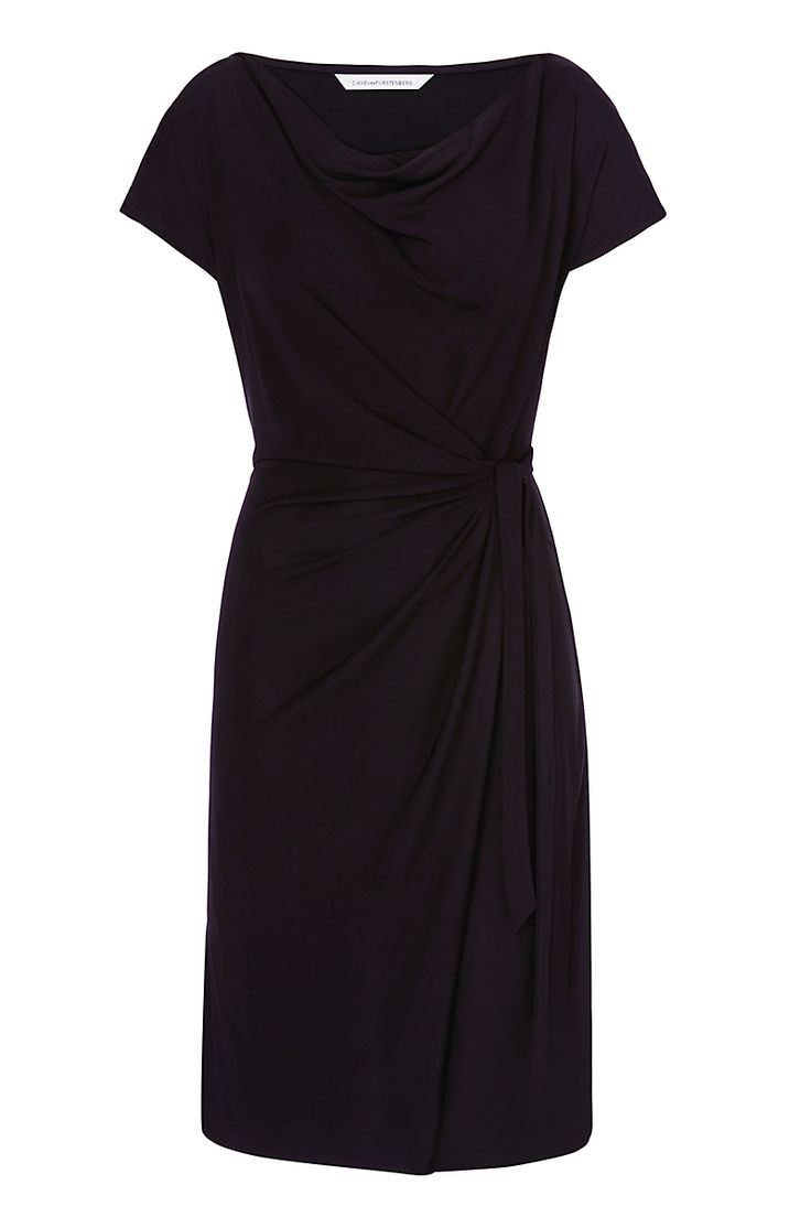 The DVF Imani features a draped neckline and cap sleeves for a look that is feminine, but never fussy. A faux wrap front can be adjusted for the most flattering fit. Pairs with heels for the office, or lace up sandals for a weekend away.