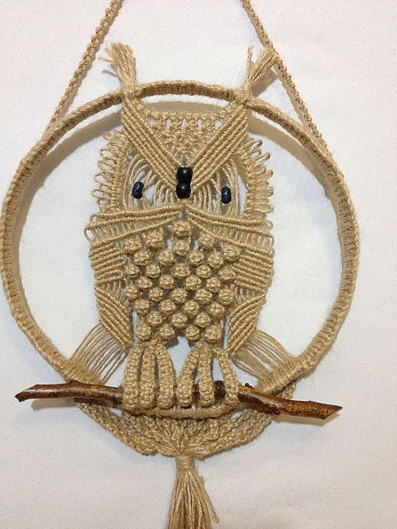 Handmade-macrame-owl-with-natural-jute