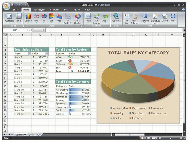 Microsoft Excel 2007 Screenshots