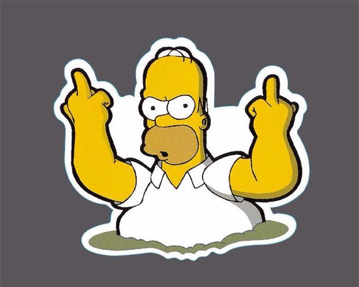 Bird flipping Homer