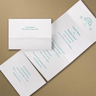 Modern Tree Shimmer   Seal U0027n Send Invitation. Wedding ...