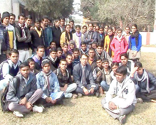 A snap shot after interacting with the students of RR campus Janakpur with regard to the project of  Youth Empowerment.