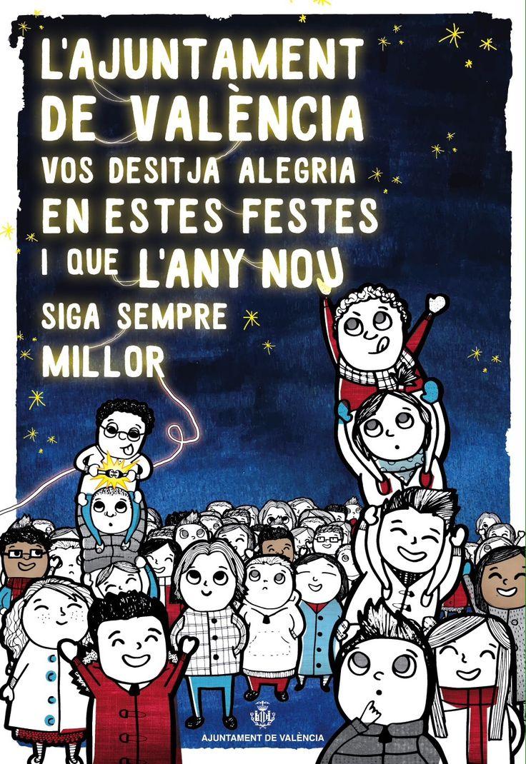 Carel de felicitación de ls Navidades del Ayuntamiento de Valencia 2015.