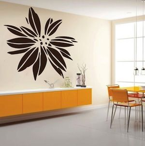 Exotic Flower Wall Decal Floral Art From Trendy Designs