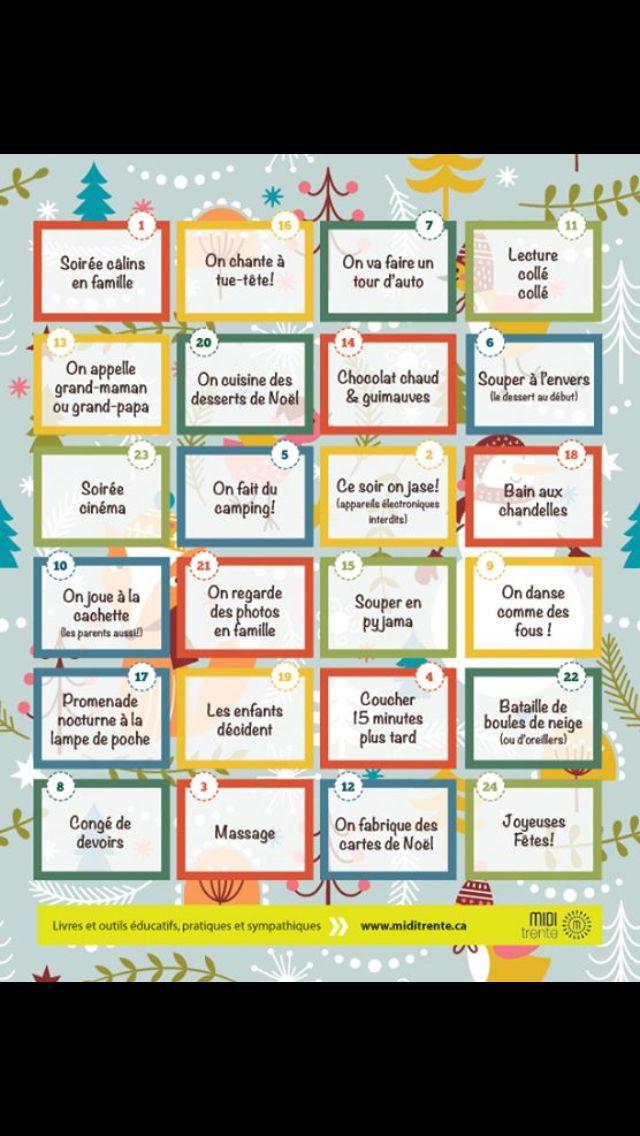 Un calendrier de l'avent qui me plaît beaucoup.  http://www.miditrente.ca/Midi-trucs/PDF_Midi-trucs/Avent_Miditrente.pdf