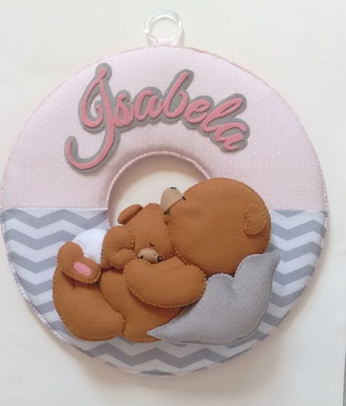 Guirlanda Maternidade ursinho Feltro