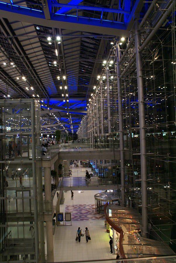 Suvarnabhumi Airport, Bangkok - Thailand  by  Helmut Jahn of Murphy / Jahn Architects & ITO JV