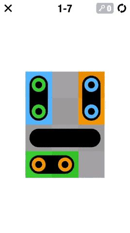 Quetzalcoatl By 1Button SARL (iOS / Android). Drag all snakes into positions corresponding to their colors. Fun, challenging puzzle game for mobile.