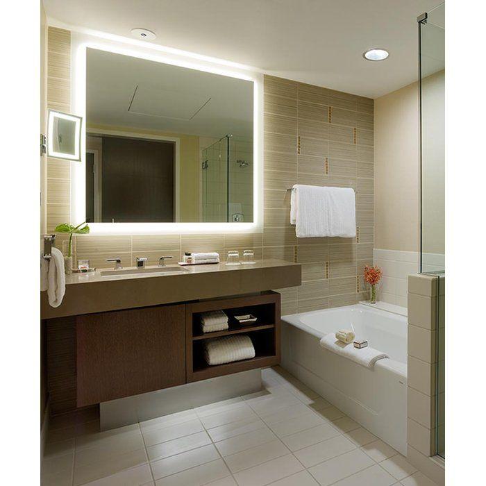 Silhouette Modern Contemporary Lighted Bathroom Vanity Mirror Minimalist Bathroom Mirrors Bathroom Mirror Modern Bathroom Mirrors