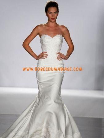 Prestcilla de Boston robe de mariage blanche 2012 sirène taffetas