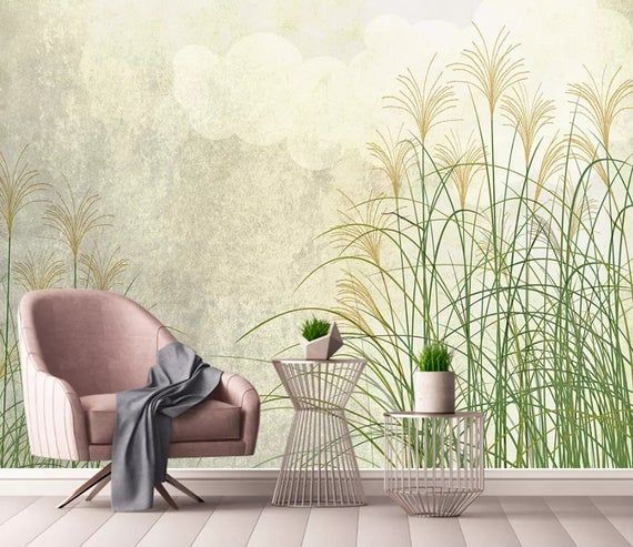 3d Simple Reed Pond Wallpaper Removable Self Adhesive Wallpaper Wall Mural Vintage Art Peel And Stick Wall Murals Wallpaper Traditional Wallpaper