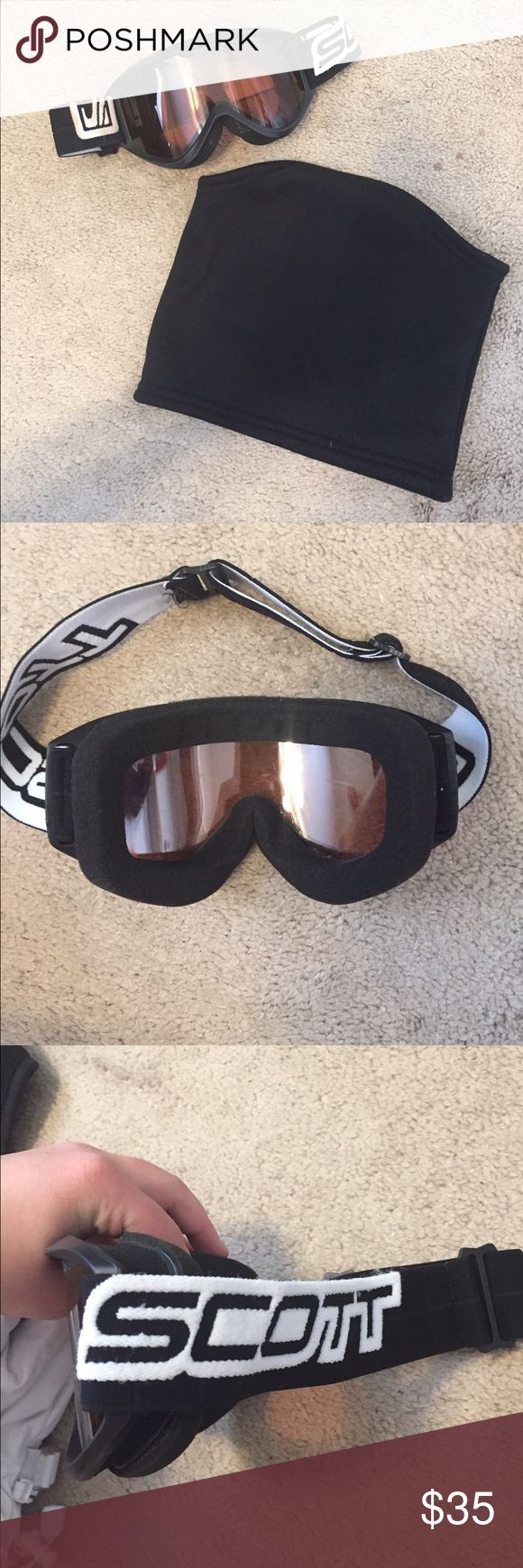 Ski Goggles Bundle Perfectly good Scott ski/snow goggles. I bought off Poshmark and only wore them for two days in Colorado! Neck warmer included! Scott Accessories Sunglasses