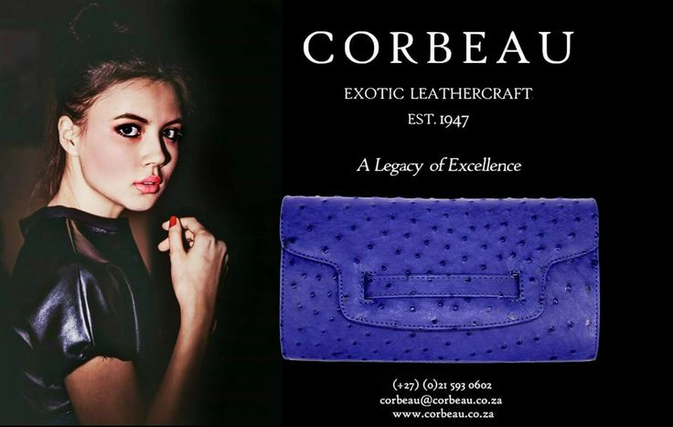 Subtle Elegance  Comment on this post or Check Out our website for more info...  #OstrichLeather #IrisBlue #ClutchBag #Fashion #Handbag #Beauty #Model #Girl #FashionTrends #Trends #Style #Stylish #Beautiful #Blonde #History #Elegance #Love