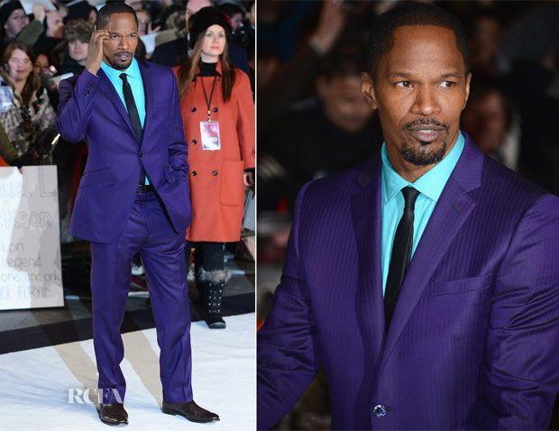 He looks amazing!! Jamie Foxx In Ozwald Boateng - 'Django Unchained' London Preimere