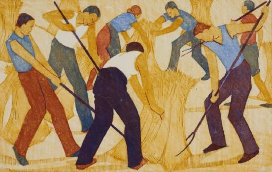 Ethel Spowers Harvest 1932 Auckland Art Gallery