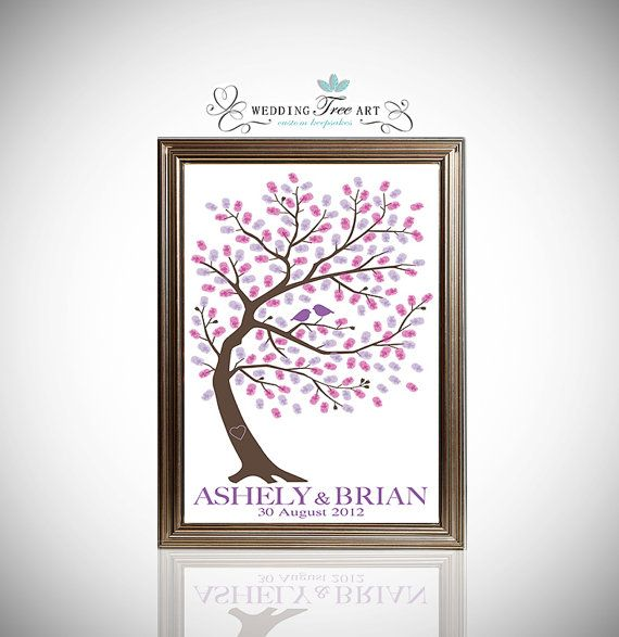 Wedding Guestbook Thumprint Tree Canvas A Great Wedding: 17 Best Ideas About Thumbprint Tree Wedding On Pinterest