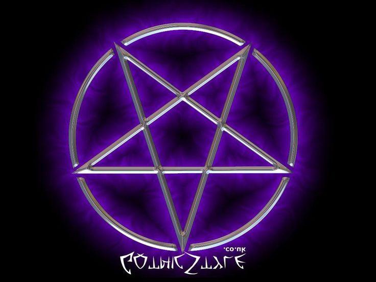 Satanic Pentagram | Purple Pentagram, Dark, inverted, pagan, satanic, star, symbol