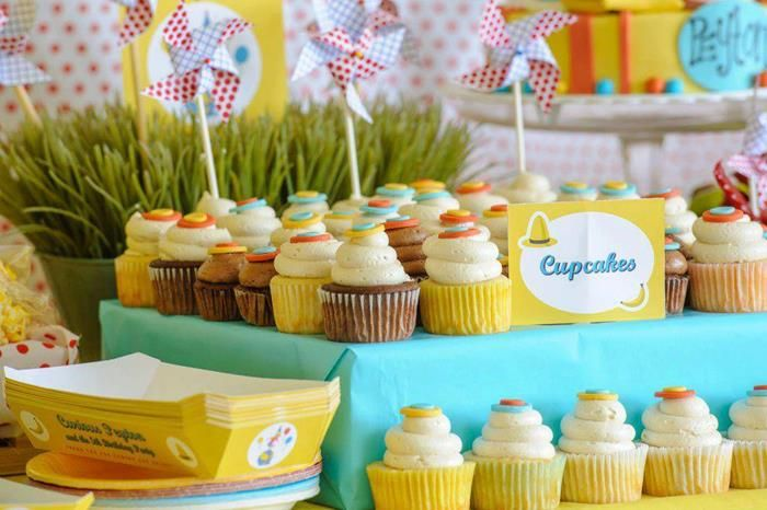 Cake Decorating Stores In Greensboro Nc : cupcakes at a curious george pool party #curiousgeorge # ...