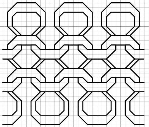 Imaginesque: Black Purl Blackwork (or Cross Stitch) Fill Pattern